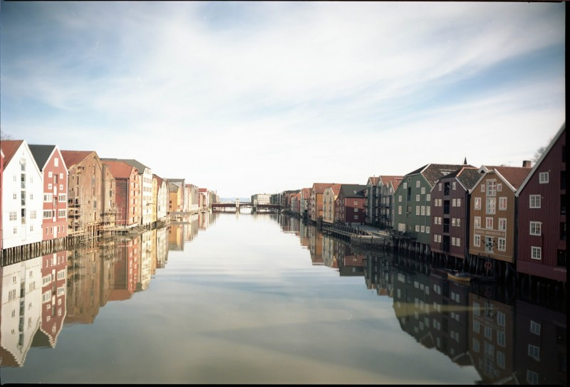 Old wharves of Trondheim