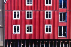 Details from wharf facade, Trondheim, Norway
