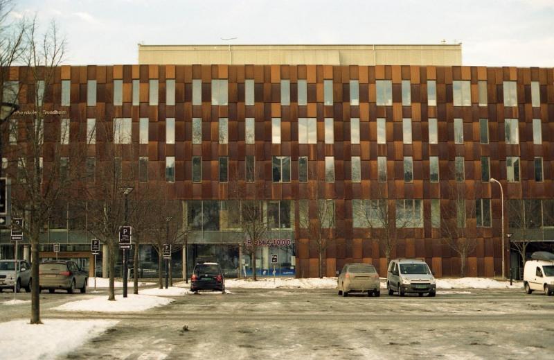 Rusty building.