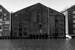 Front view of brown wharf.